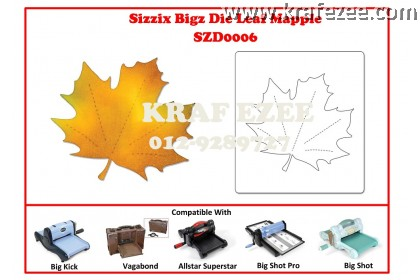 SZD0006 Sizzix Bigz Die - Leaf, Maple