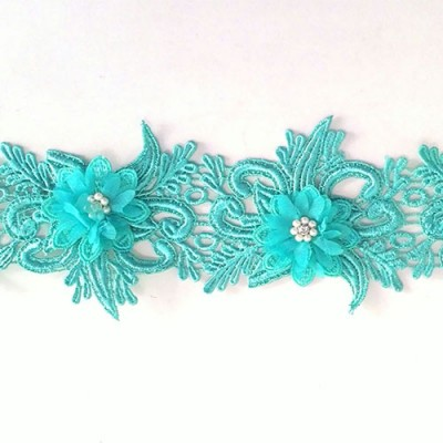 Flower Lace with Pearl 4""