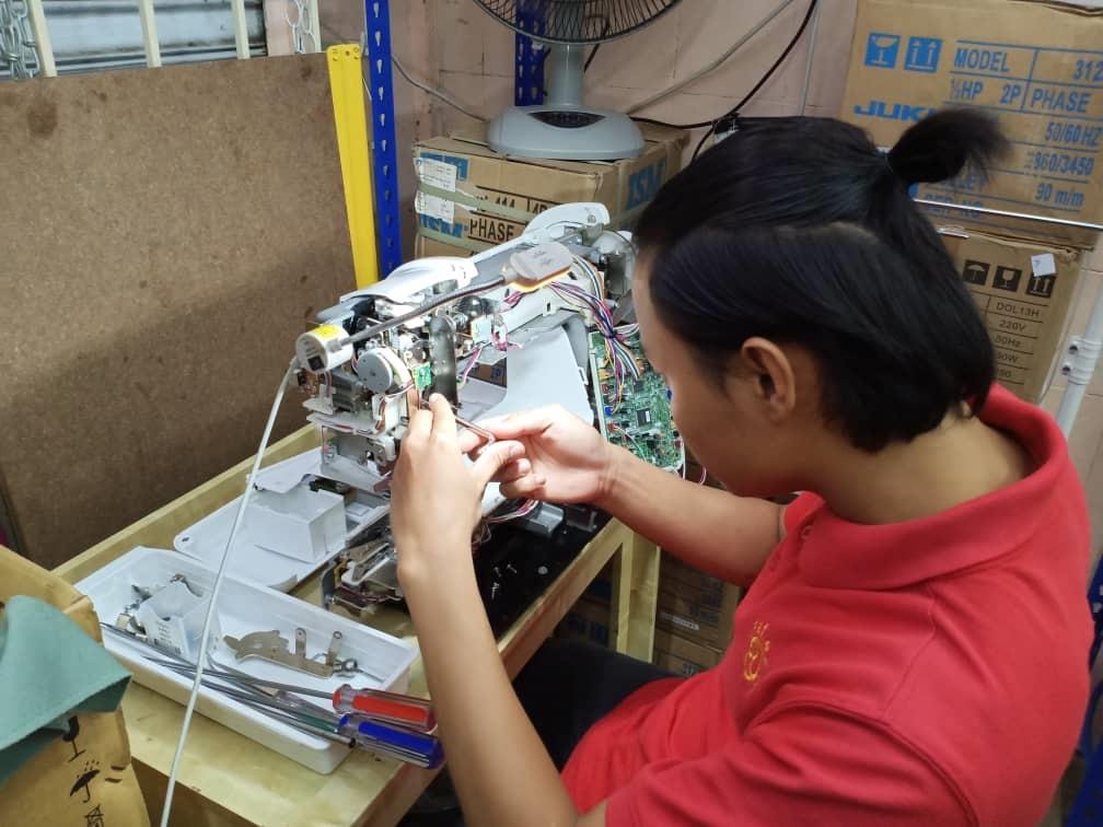 Servis baiki dan repair mesin jahit industri portable bangi selangor malaysia