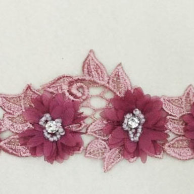 Flower Lace with beads 6cm