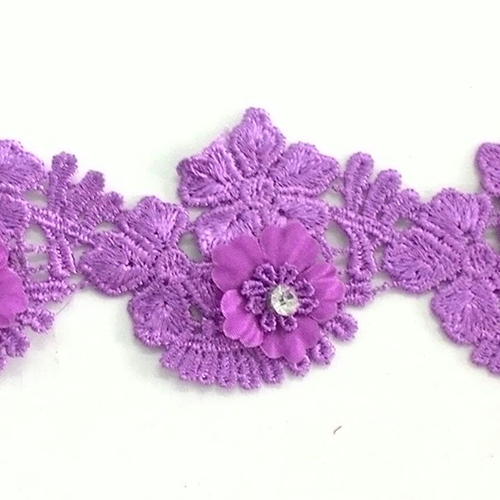 Flower Lace with Diamond 2""